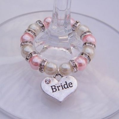 Bride Wine Glass Charm - Full Sparkle Style